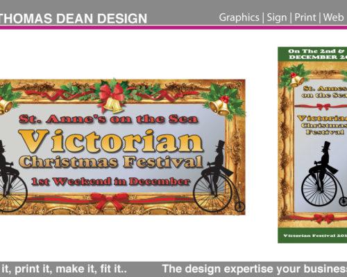 St. Annes Victorian Xmas Banner