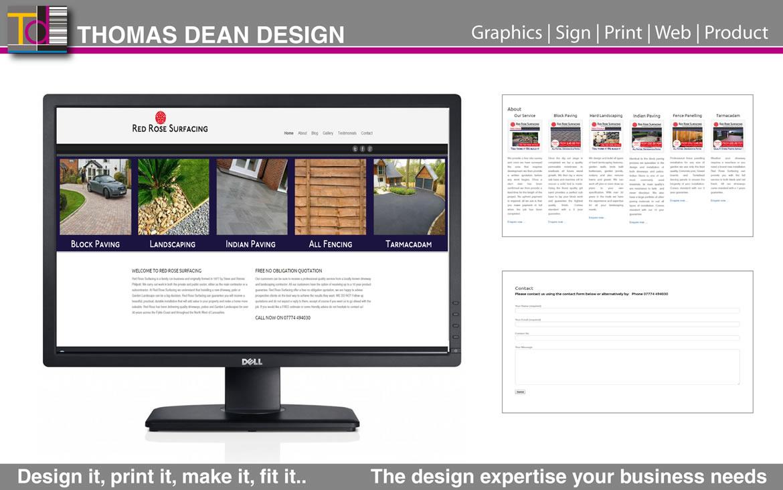 Redrose Surfacing Website