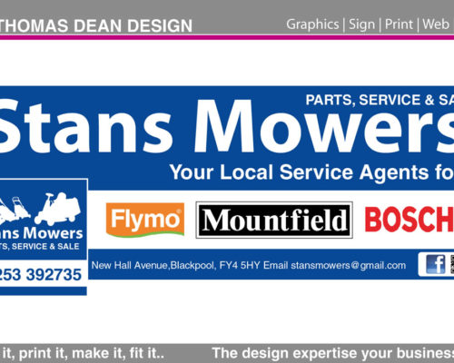 Stan's Mowers Facebook Graphics
