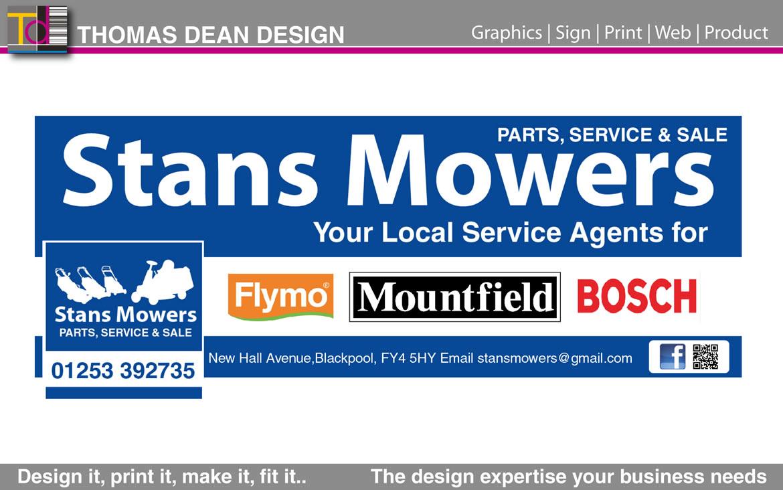 Stan's Mowers Facebook Graphics