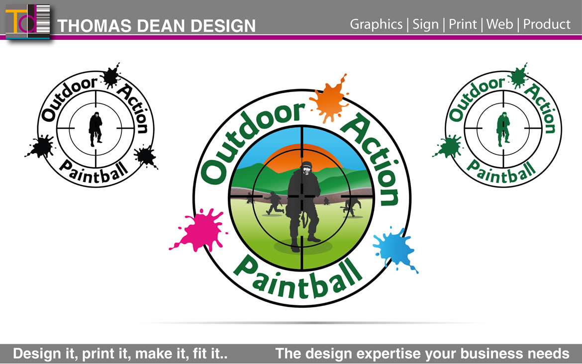 Outdoor Action Paintball Logo