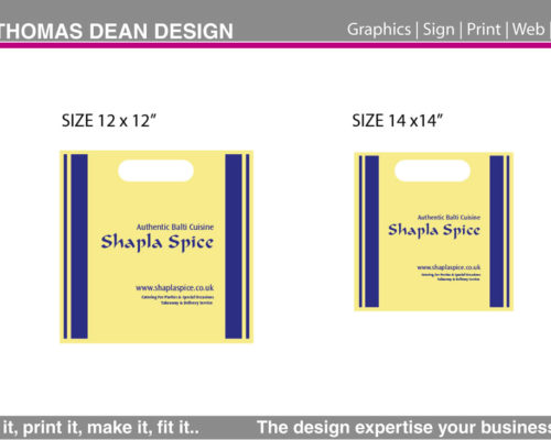 Shapla Spice Takeaway Packaging