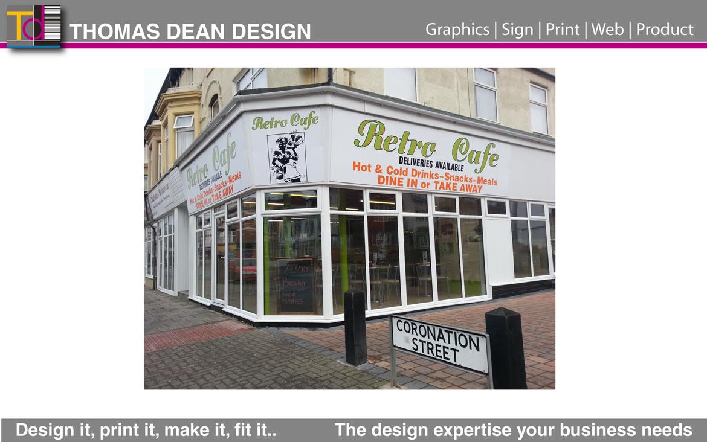 Retro Cafe Shop Signage