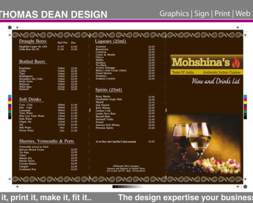 Moshina Indian Restaurant Menu