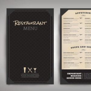restaurant cards