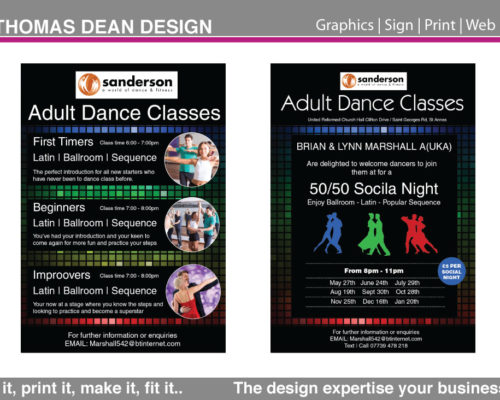 Sandersons Dance Classes Flyer