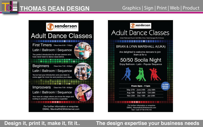 Sandersons Dance Classes Flyer