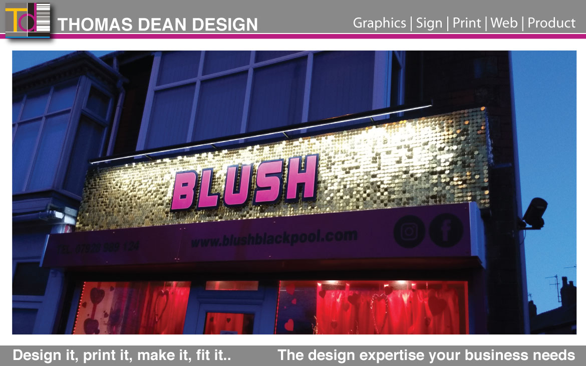 Blush Florist Sign – Blackpool