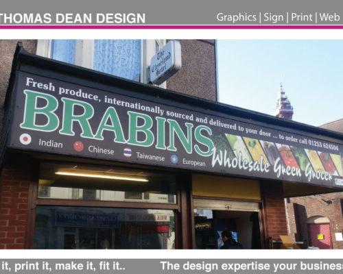 Brabins Greengrocers Shop Sign
