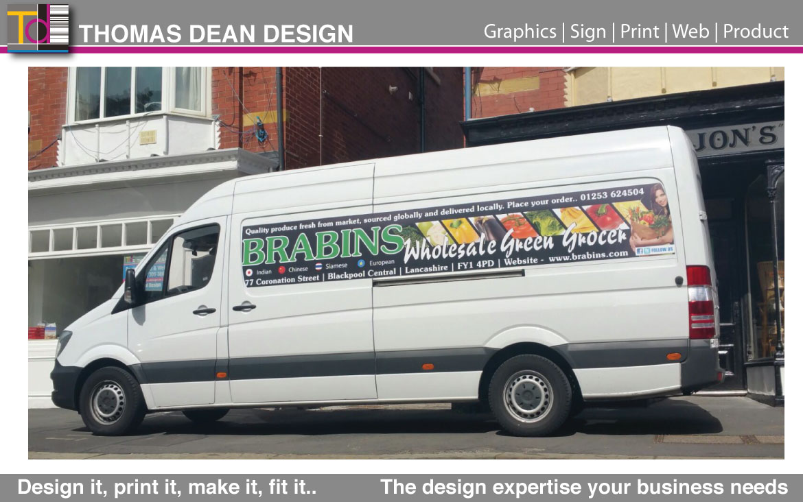 Brabins Vehicle Livery – Blackpool