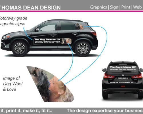 Dog Whisperer Magnetic Vehicle Signs