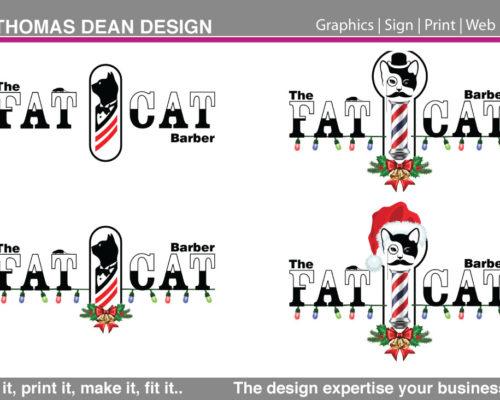 Fat Cat Barber Logo – Lytham