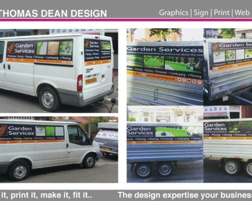 Garden Services Vehicle Graphics