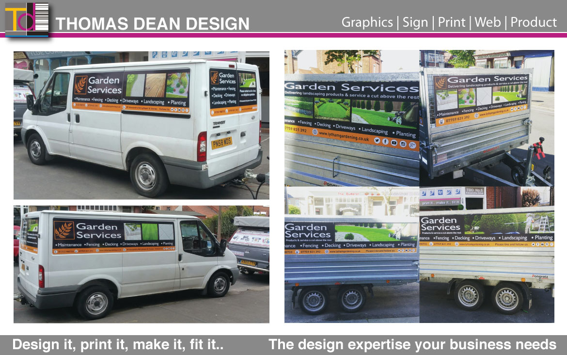 Garden Services Vehicle Graphics