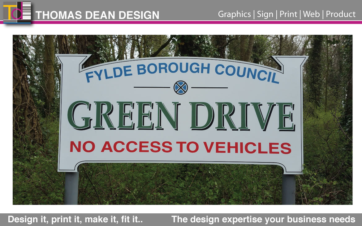 Green Drive Sign – Lytham Council