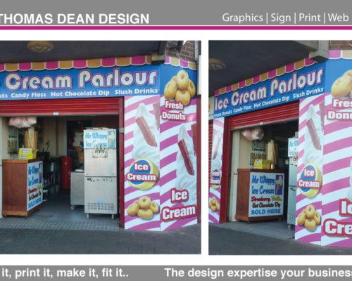 Ice Cream Parlour Shop Sign