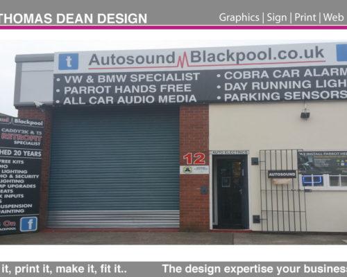 Autosound Shop Signage
