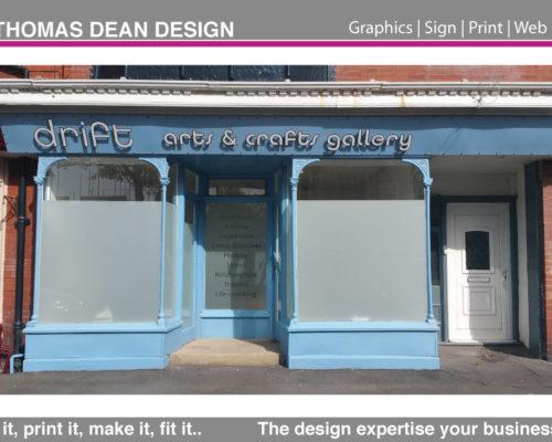 Drift Art Gallery Shop Sign