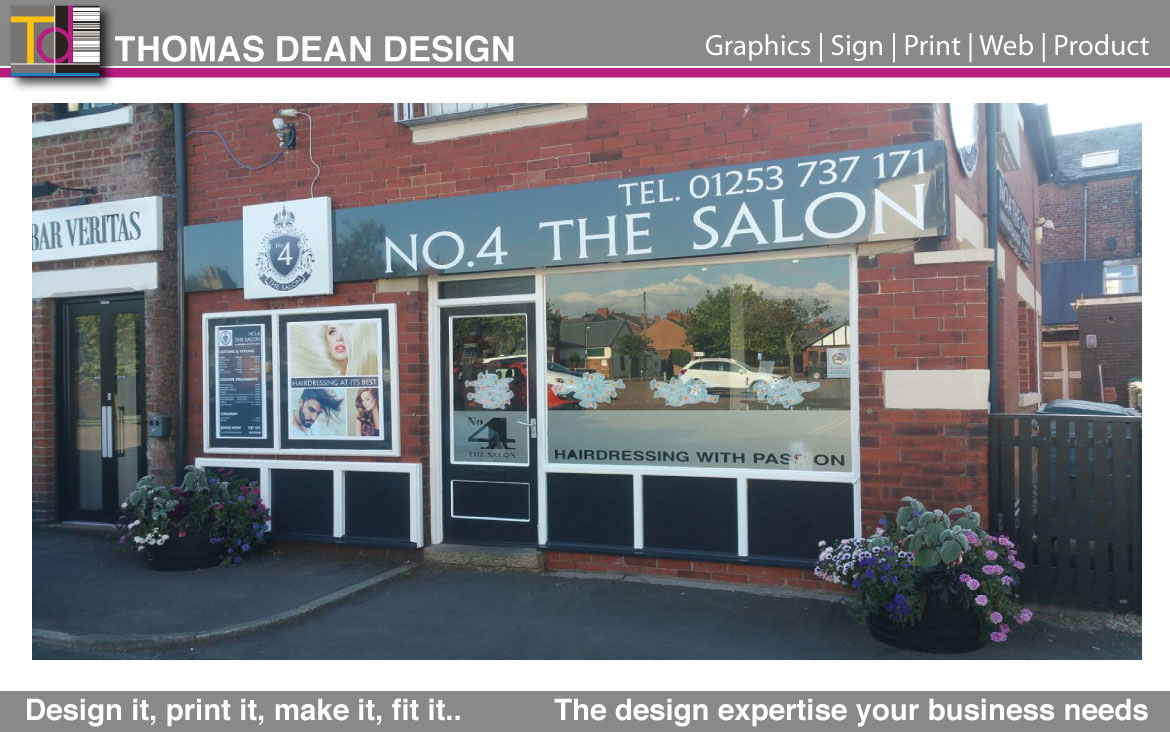 No.4 The Salon Shop Sign – Lytham
