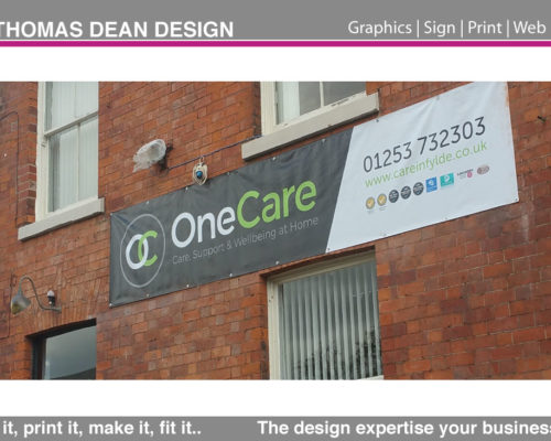 One Care Sign Banner