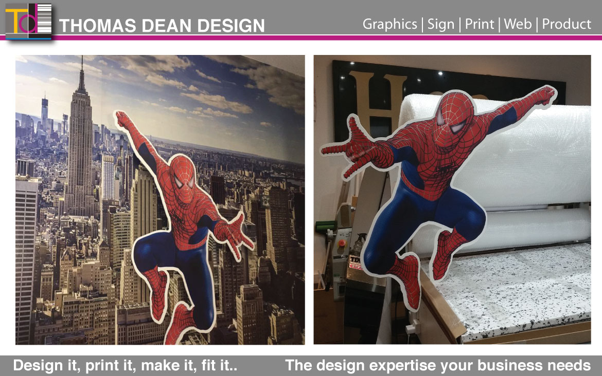 Spiderman Wall – Back Lit LED