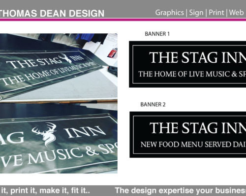 Stag Pub Sign Banners