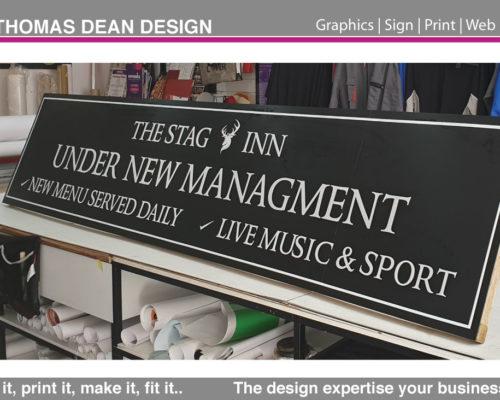 Stag Pub Signage