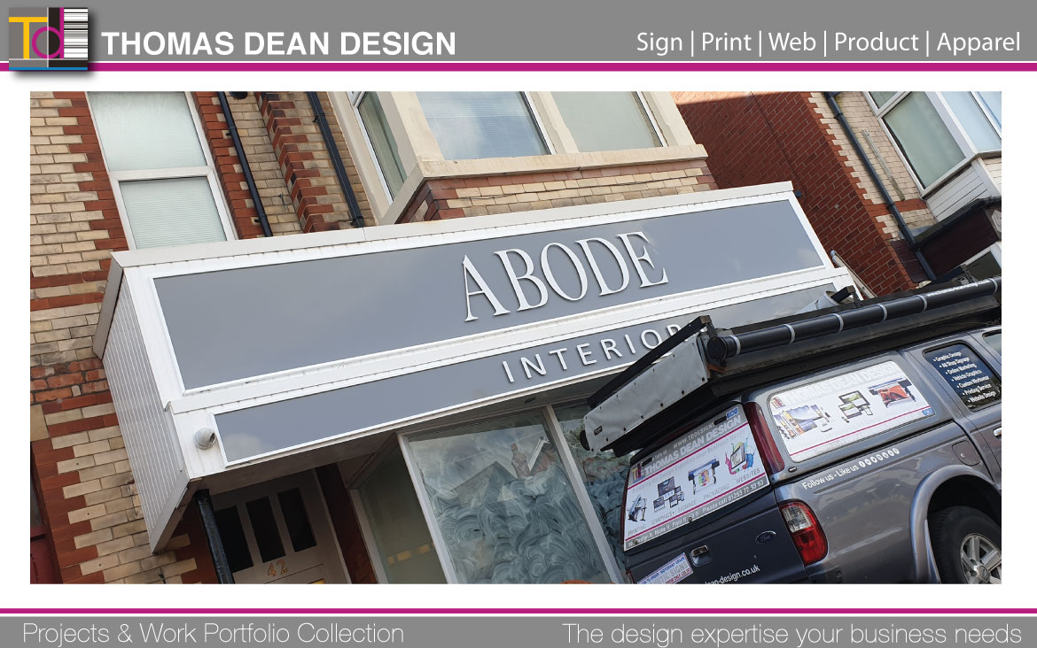 Abode Interiors Shop Sign