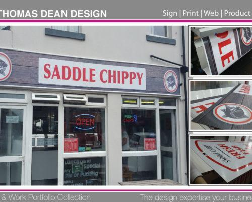 Saddle Chippy Shop Sign