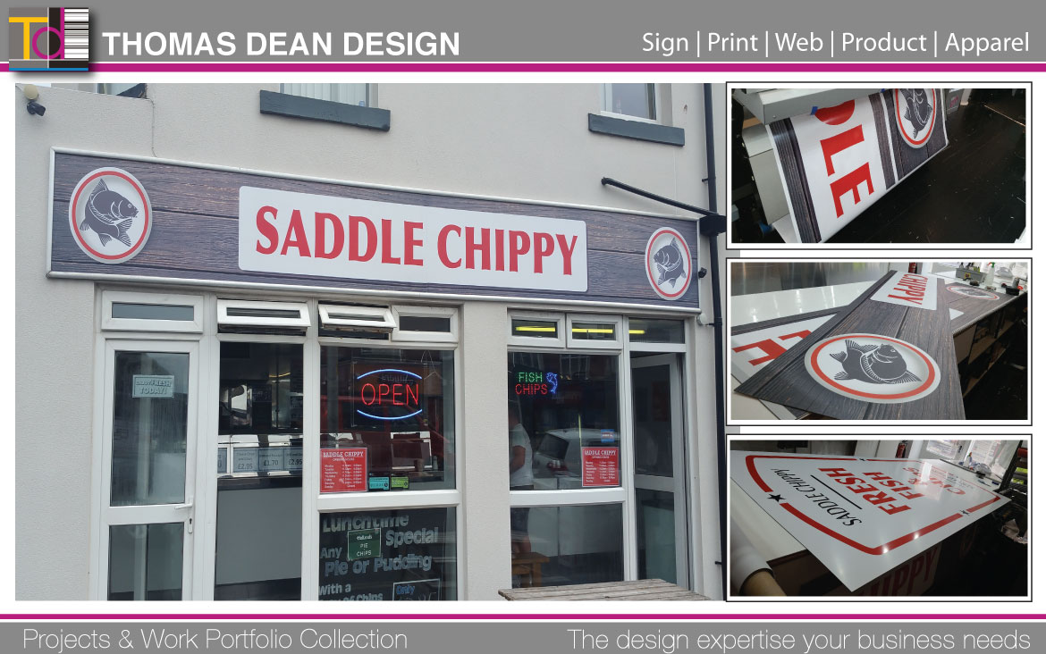 Saddle Chippy Shop Sign