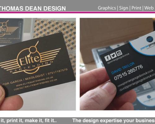 Business Card Printing – Metallic Effect