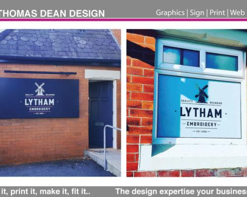 Lytham Embroidery Shop Sign LED Lit