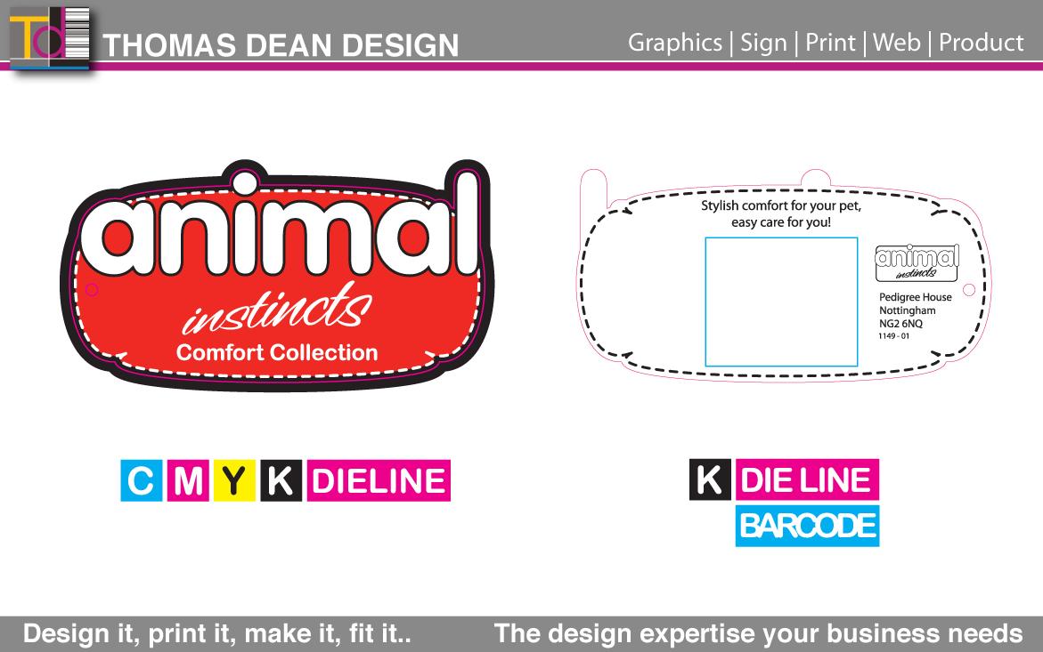Animal Instincts Logo Pet Bedding