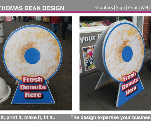 Fresh Donuts A Board